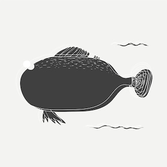 Illustration eines fisches