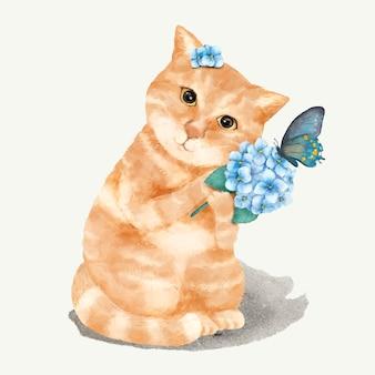 Illustration eines kätzchens
