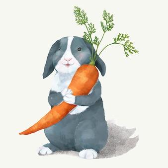 Illustration eines kaninchens