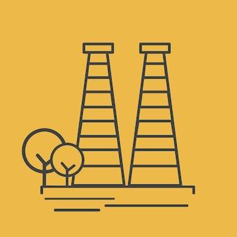 Illustration eines kraftwerks