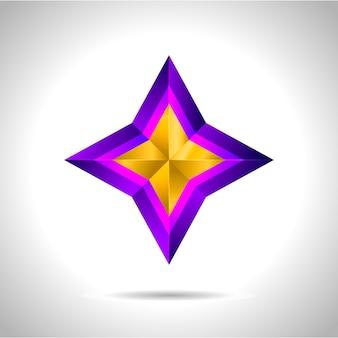Illustration eines lila goldenen sterns