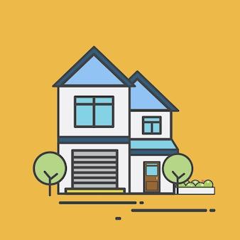 Illustration eines netten Hauses
