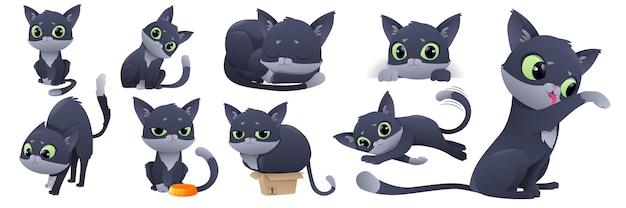 Illustration eines niedlichen katzencharakters.