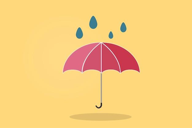 Illustration eines regenschirmes
