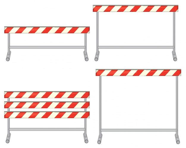 Illustration eines satzes von hindernissen