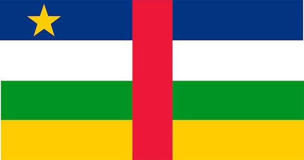 Illustration flagge der zentralafrikanischen republik
