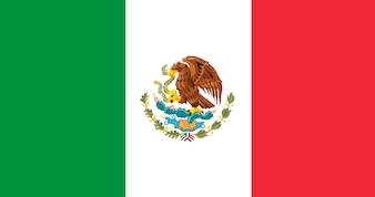 Illustration Flagge von Mexiko
