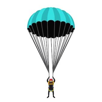Illustration für die schule der fallschirmspringer
