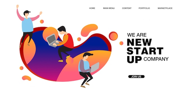 Illustration für ein neues startup-unternehmen