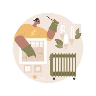 Illustration für elektrikerdienste