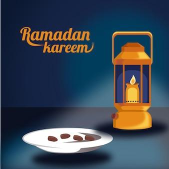 Illustration für monat ramadan