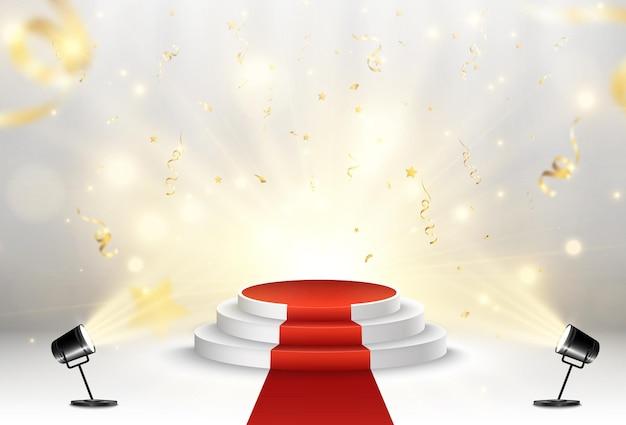 Illustration für preisträger podest oder plattform zur ehrung der preisträger