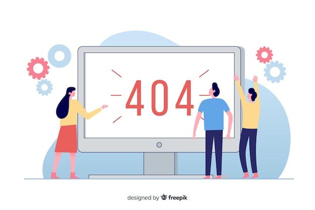 Illustration für zielseite mit konzept des fehlers 404