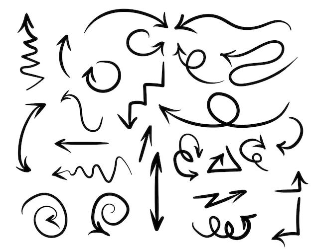 Illustration handgemachter gekritzelpfeil