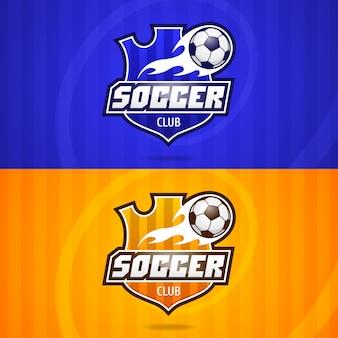 Illustration, hintergrund-fußball-club-emblem, format eps 10
