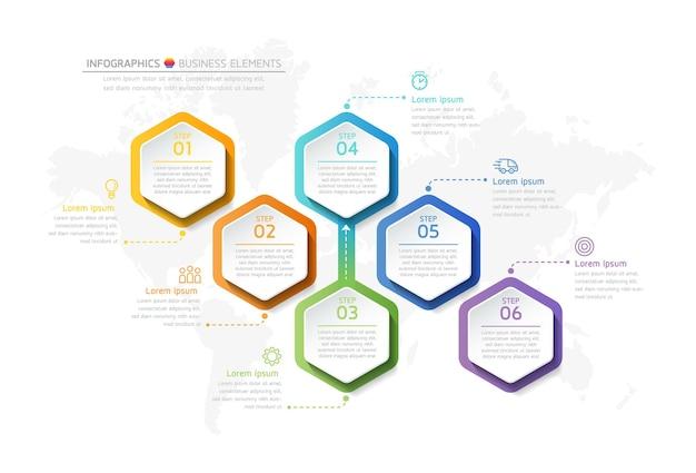 Illustration infografiken design-vorlage, geschäftsinformationen, präsentationstabelle