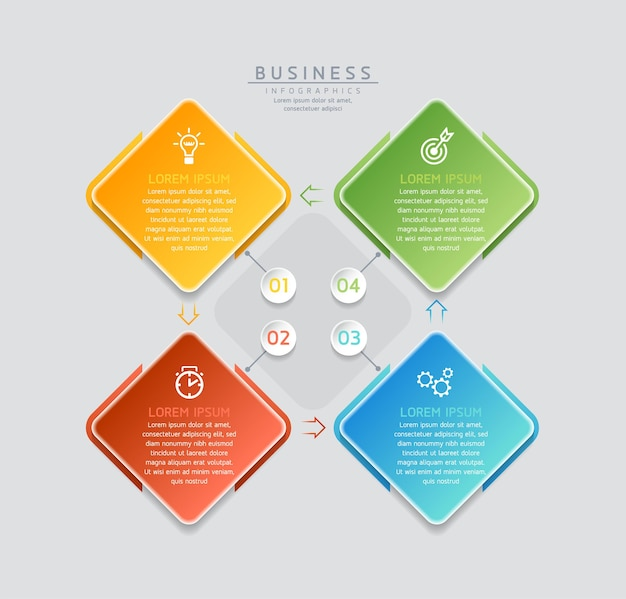 Illustration infografiken design-vorlage