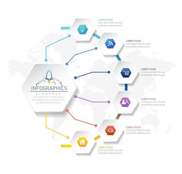 Illustration infografiken designvorlage geschäftsinformationen präsentationstabelle