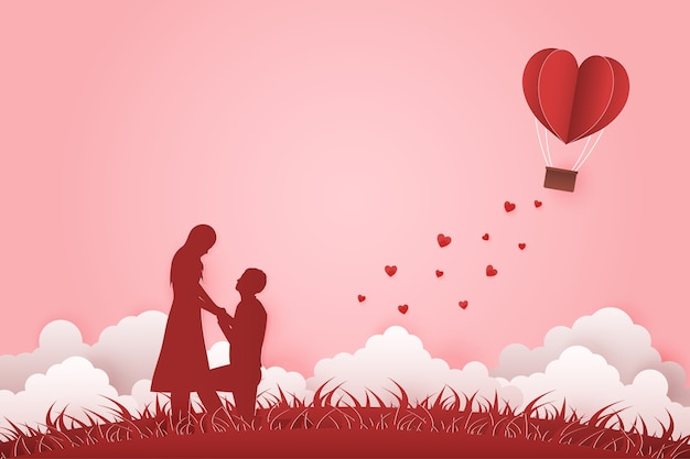 Illustration junges paar datiert valentinstag