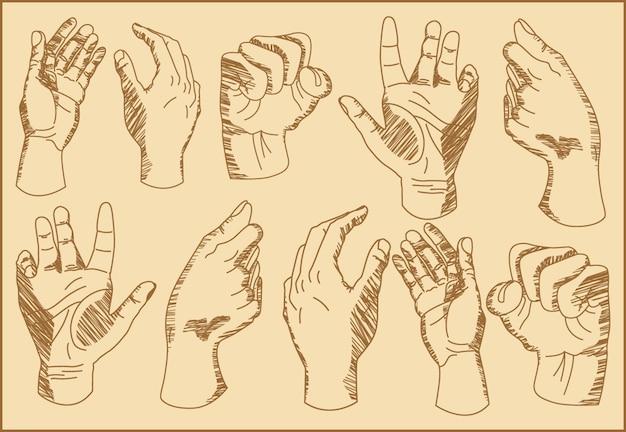 Illustration menschliche hand