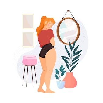 Illustration mit geringem selbstwertgefühl