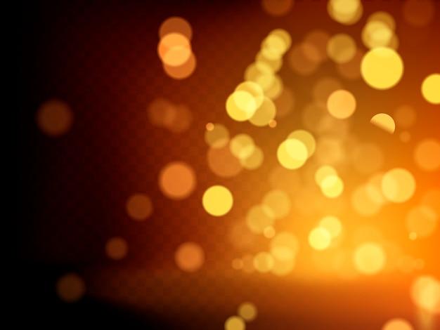Illustration mit glitzerndem goldenem pulver und warmem licht