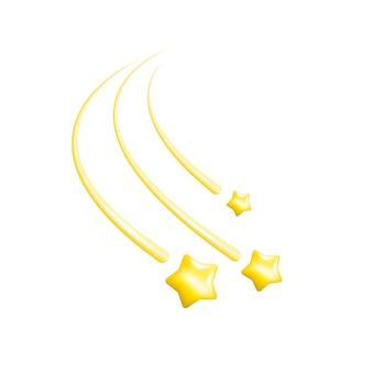 Illustration mit goldenen sternen auf weißem hintergrund für konzeptionelles design metallischen goldhintergrund