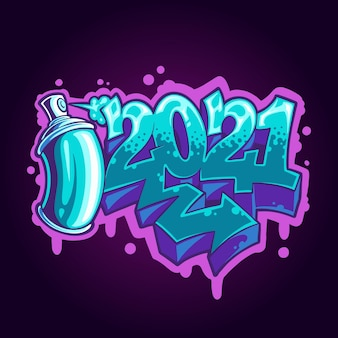 Illustration mit graffiti-stil