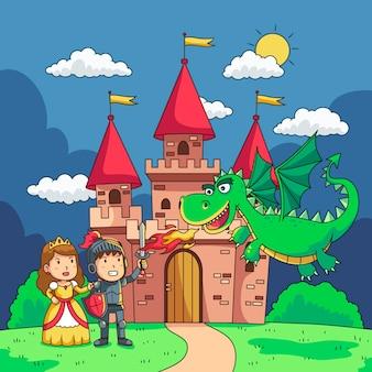 Illustration mit märchenhaftem design