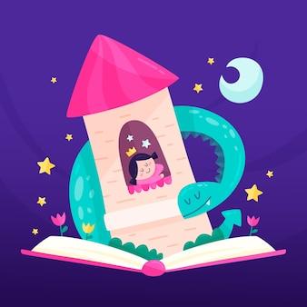 Illustration mit märchenkonzept