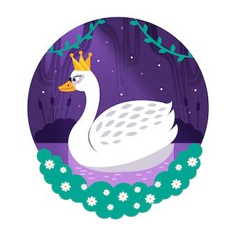 Illustration mit schwanprinzessinthema