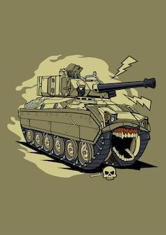 Illustration panzer monster charakter cartoon
