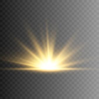 Illustration sonnenlicht oder sternenlicht