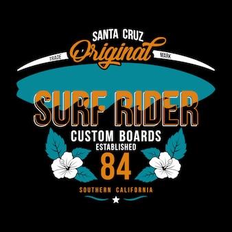 Illustration surf rider hintergrund