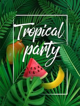 Illustration tropische partei