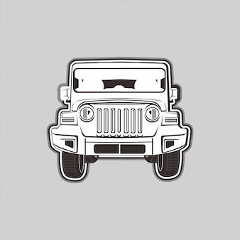 Illustration von 4x4 nicht für den straßenverkehr