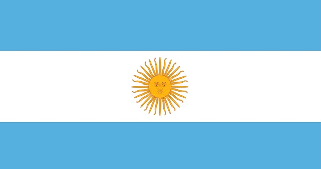 Illustration von argentinien-flagge
