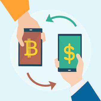 Illustration von bitcoin-konzept