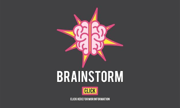 Illustration von brainstorming