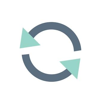 Illustration von erneuern ikone