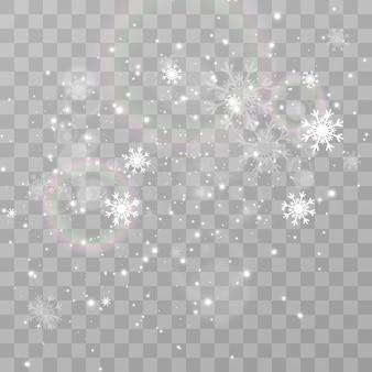 Illustration von fliegendem schnee natürliches phänomen von schneefall oder schneesturm