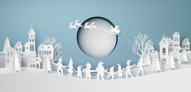 Illustration von frohen weihnachten und von guten rutsch ins neue jahr