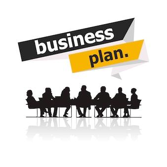 Illustration von Geschäftsleuten in der Sitzung
