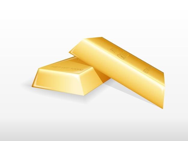 Illustration von goldbarren