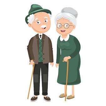 Illustration von großeltern