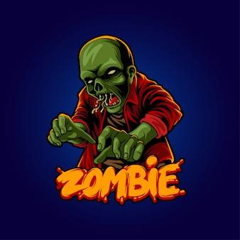 Illustration von halloween zombie