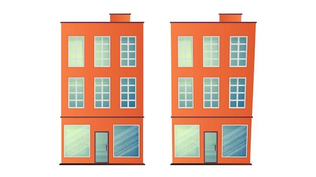 Illustration von hochhäusern. gebäude für die gestaltung der stadt.