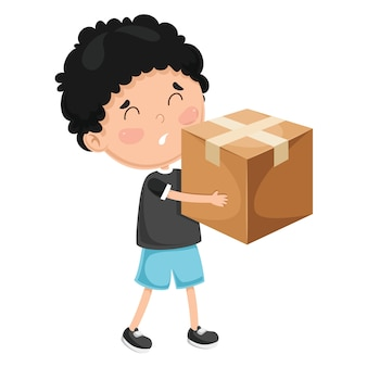 Illustration von kinder körperlichen aktivitäten