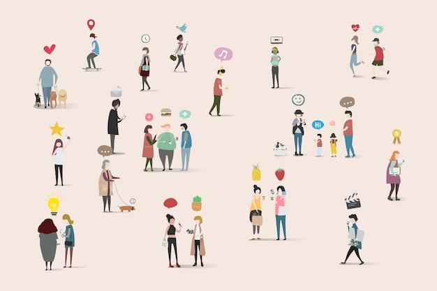 Illustration von menschlichen hobbys und von aktivitäten