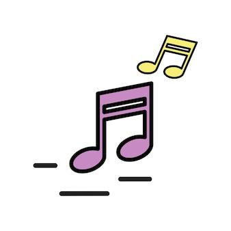 Illustration von musikalischen notizen